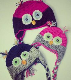 Made to Order  Crochet Owl Earflap Hat  by AlishaMayCreations, $23.00