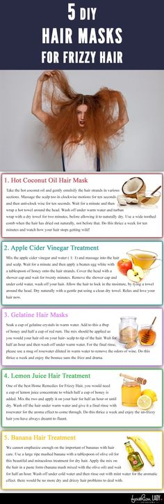 5 DIY Hair Masks For Frizzy Hair