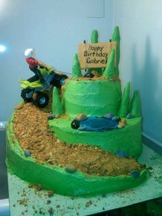 Atv cake I so want to make this one for Cameron.