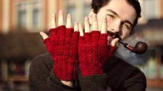 Unique gloves, made of malabrigo, bespoke.