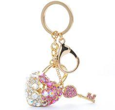 Heart & Key Bag Charm/Keychain