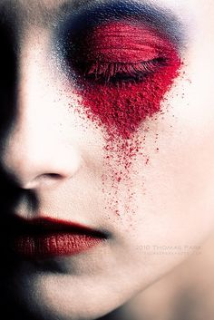 Red eyeshadow is hard to PULL OFF  just go #extreme