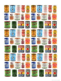 1930s and 1940s food labels