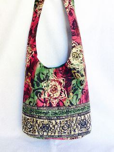 Funky floral hippie sling bag/ bohemian purse made by BohoRain