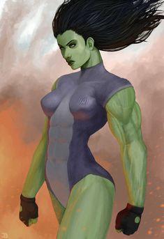 #She #Hulk #Fan #Art. (She Hulk) By: Jahvan. ÅWESOMENESS!!!™ ÅÅÅ+