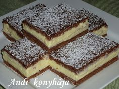 To je nápad! Hungarian Cake, Hungarian Recipes, Sweet Desserts, No Bake Desserts, European Dishes, Sweet Cookies, Pavlova, Cookie Recipes, Food And Drink