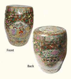 Hand Painted Chinese Porcelain Garden Stool with Rose Medallion Design Traditional Roses, Asian Garden, Rose Family, Southern Comfort, Porcelain, Chinese, Hand Painted, Oriental, Garden Stools