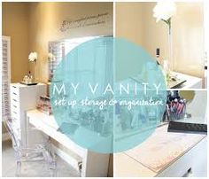 Great ideas on how to put together your very own, organized, dream vanity! Vanity Set Up, Vanity Area, Vanity Desk, Makeup Storage Solutions, Save For House, Storage Organization, Jewelry Organization, Tidy Up, My Dream Home