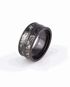 Black Double Barrel Camo ring.. Justin's wedding band!  $450