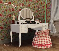 Spring4Sims » Vanity Set by GardenBreeze