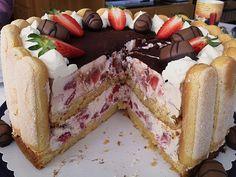 Beste Rezeptesammlung: Erdbeer Tiramisu Torte