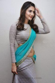 Vaani Kapoor in 'half saree' at Aaha kalyanam press meet