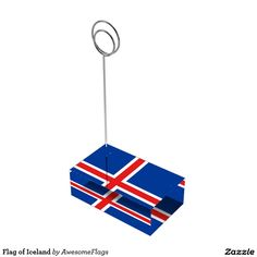 Flag of Iceland Table Card Holders
