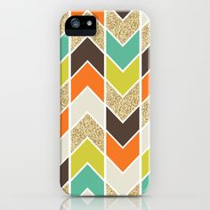 Distorted Chevron in Naturescape iPhone & iPod Case
