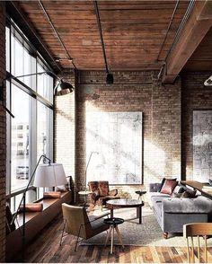 century-old warehouse apartment, photo by @canarygrey