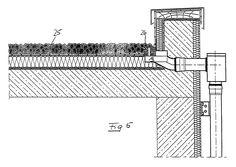 Flachdach-Wasserablauf und Flachdach mit einem Flachdach-Wasserablauf - Patent 0940520 Civil Engineering Works, Civil Engineering Construction, Detail Architecture, Architecture Drawings, Roof Design, House Design, My House Plans, Roof Detail, Detailed Drawings