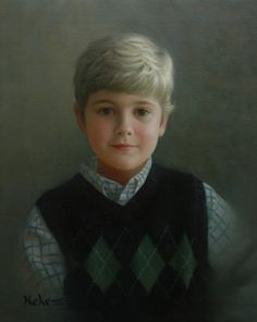 """Painting by Brian Neher, Portrait of Aaron, 20"""" x 16"""", Oil on Linen www.BrianNeher.com"""
