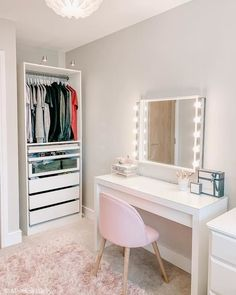 [New] The 10 Best Home Decor Ideas Today (with Pictures) Bedroom Decor Grey Pink, Bedroom Decor For Teen Girls, Teen Room Decor, Girl Bedrooms, Teen Bedroom Designs, Room Design Bedroom, Home Decor Bedroom, Dressing Room Decor, Dressing Room Design