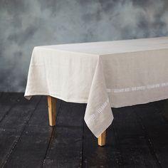 Bon Appetit Linen Tablecloth | $178
