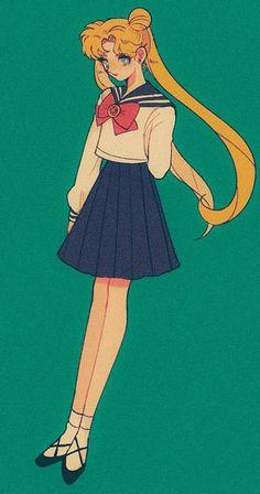 Sailor Moons, Sailor Moon Girls, Arte Sailor Moon, Sailor Moon Fan Art, Sailor Moon Usagi, Sailor Venus, Old Anime, Manga Anime, Cristal Sailor Moon