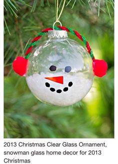 Clear Snowman Ornament