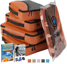 Packwürfel Kleidertaschen Packing cubes Koffertaschen für angenehmes Reisen und aufgeräumte Koffer - 4-teiliges Set; Große und mittelgroße Taschen zum Schutz und zur Komprimierung von vielen Kleidungsstücken, Schuhen und Accessoires - Sparen Sie Zeit und Stress in Ihrem Urlaub - Risikofrei 100% Zufriedenheitsgarantie! (Schwarz): Amazon.de: Koffer, Rucksäcke & Taschen