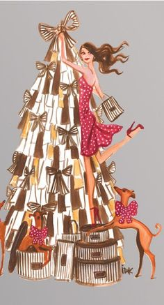 Luv  Holidays!!!!Henri Bendel #henribendel #illustrations #wendyheston likes #shopbendel #charmiesbywendy loves #henribendelilustrations