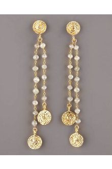 coomi jewelry neiman marcus   Coomi Eternity Spice Prenite Earrings in Brown   Lyst