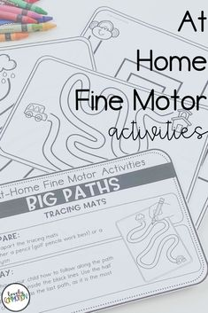 Are you trying to teach families with distance learning?Are you using take home packets during this school closure?Homeschooling and need some preschool activities?These At Home Fine Motor Activities are what you need! Gross Motor Activities, Preschool Learning Activities, Preschool Lesson Plans, School Closures, Kindergarten Teachers, Early Education, Teacher Hacks, Student Learning, Fine Motor