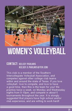 Women's Volleyball College Club, Women Volleyball, Sports Clubs, Love You, Te Amo, Je T'aime, I Love You