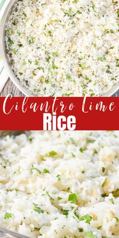 Cilantro Lime Rice is better than Chipotles! Chipotle Lime Rice is a favorite with Mexican or delicious served as a side dish with chicken, fish, or beef. This Cilantro Lime Rice recipe is easy to make from Serena Bakes Simply From Scratch.