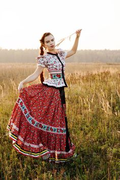 Photo about Young peasant woman, dressed in Hungarian national costume, posing over nature background on a sunny summer day. Image of clothing, autumn, life - 46219785 Folk Costume, Costumes, Shall We Dance, Russian Fashion, Dance The Night Away, Ethnic Fashion, Historical Clothing, Traditional Dresses, Poses