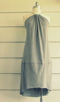 DIY easy tshirt dress WobiSobi: Tee-Shirt, Fishtail Sundress, DIY