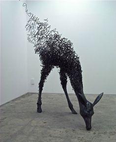 3D sculpture made of steel