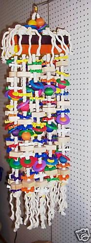 DREADBLOCK parrot bird toy macaws cockatoos large by junglebeaks, $269.00