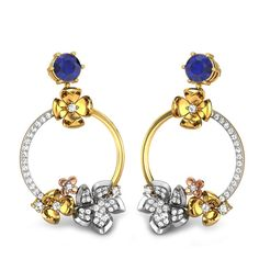 Blue colored gemstone is put best in use with the gold, white gold and diamonds making it the  best choice for cocktail parties.