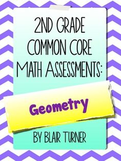 2nd Grade Common Core Math Assessments - Geometry $