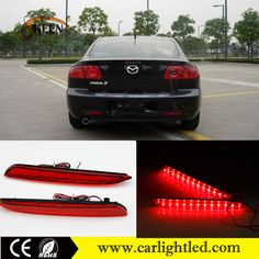 High Power 6W Car LED Rear Bumper Reflector For Mazda 3 Tail Lights Lamp 12V Rear Brake Warning Lights