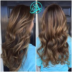 Chocolate blonde balayage. Greenville hair salon. Fusion extensions in Greenville