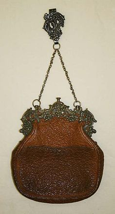 Chatelaine    Date:      ca. 1900  Culture:      American (probably)  Medium:      leather, metal