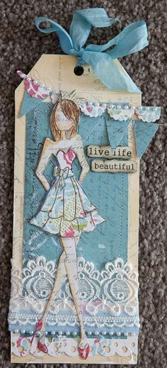 julie nutting doll techniques | ... Mixed Media Doll Stamps ...Strapless and Bolero Dolls by Julie Nutting