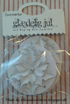 Olivias Loveletters: Gave mærker del 1 Fest, Poinsettia, Place Cards, Scrap, Place Card Holders, Tags, Inspired, Mailing Labels