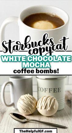 Hot Chocolate Coffee, Hot Chocolate Gifts, White Chocolate Mocha, Mocha Coffee, Chocolate Bomb, Hot Chocolate Bars, Hot Chocolate Recipes, Mocha Recipe, Hot Cocoa Recipe