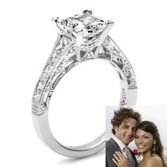 Brides.com: Engagement Rings Seen on The Bachelor and The Bachelorette. DeAnna and Jesse Engagement Announced: July 2008 Called off: November 2008 When DeAnna became the Bachelorette (having been jilted by season 11's Bachelor Brad) she accepted surfer dude Jesse's proposal, along with a 2.5-carat princess-cut diamond ring set in platinum by Tacori, which she wore during their five-month engagement.  See more princess-cut engagement rings.