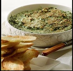 SPINACH ARTICHOKE & 3 CHEESE DIP Without the typical mayonnaise as an ...