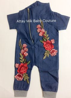 Flower Patch Romper. Baby rose outfits www.attaymik.com