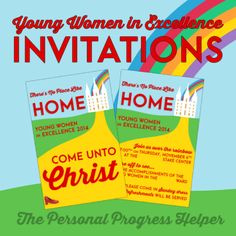 Young Women in Excellence & New Beginnings Invitations: There's No Place Like Home Free Download!
