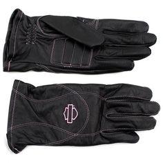 "Pink Label Full-Finger Gloves - Harley Davidson Women""s"