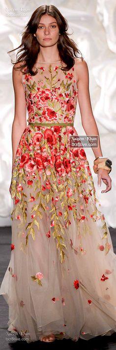 Naeem Khan Spring Floral 2015 RTW