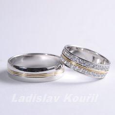 Luxusní snubní prsteny vyrobené z bílého zlata. #svatba #láska #snubniprsteny #bilezlato